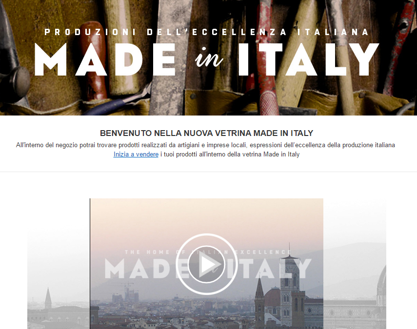 Made in Italy: nuova vetrina su Amazon.it e Amazon.co.uk!
