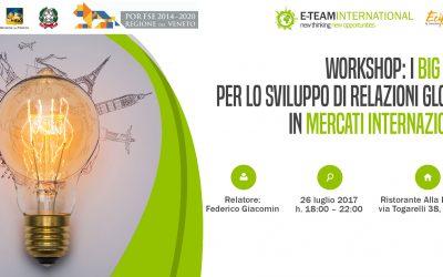 Workshop gratuito Big Data e Internazionalizzazione