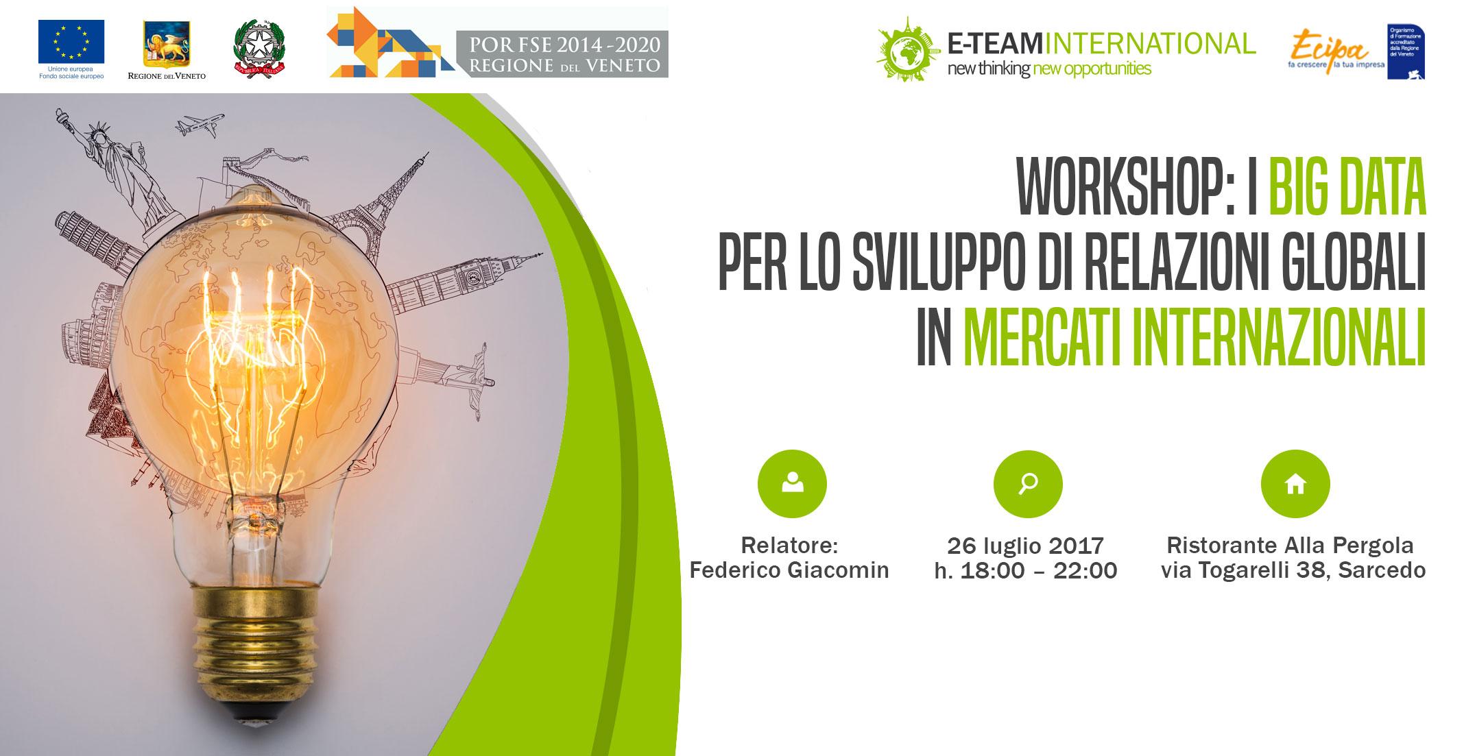 Workshop gratuito: L'impresa futura tra internazionalizzazione e innovazione