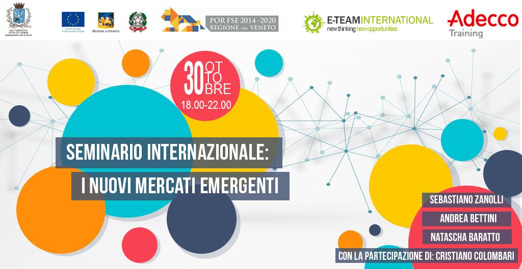 """Comunicato Stampa """"Seminario Internazionale: I nuovi mercati emergenti"""""""