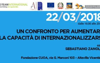 Seminario internazionale: Un Confronto per aumentare la capacità di Internazionalizzarsi