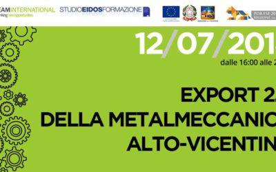Export 2.0 della metalmeccanica alto-vicentina