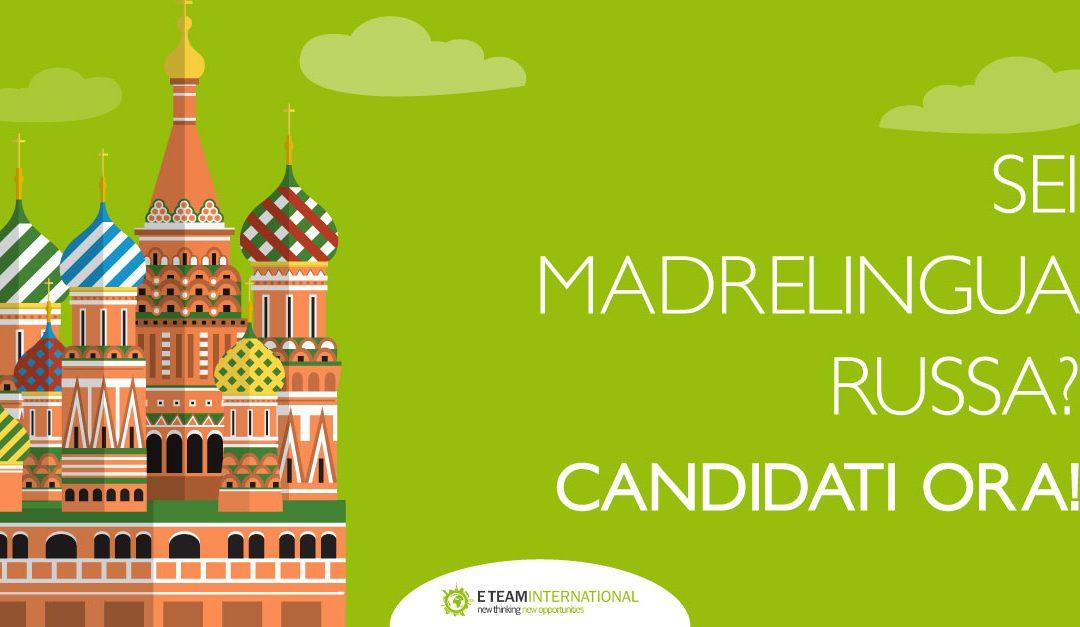 E-Team International allarga il suo staff – Madrelingua Russa