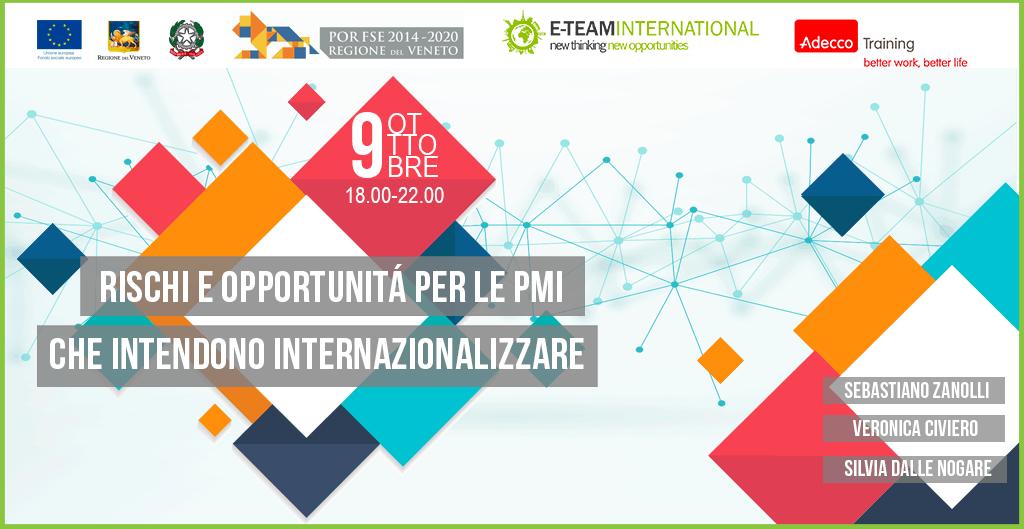 Workshop gratuito: Rischi e opportunità per le PMI che intendono internazionalizzare