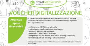 Voucher digitalizzazione: attività finanziabili