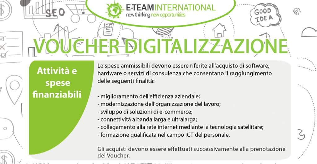 Voucher Digitalizzazione: quali sono le attività finanziabili?